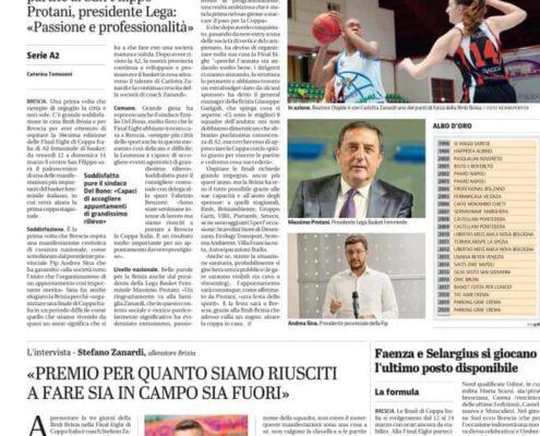 Dal Giornale di Brescia del 17 Febbraio 2021