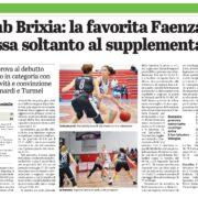 Giornale di Brescia del 12 Ottobre 2020