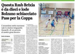 Dal Giornale di Brescia del 3 Gennaio 2021