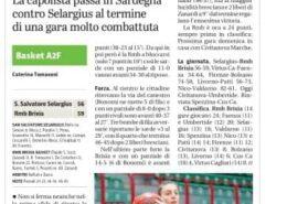 Dal Giornale di Brescia del 24 Gennaio 2021