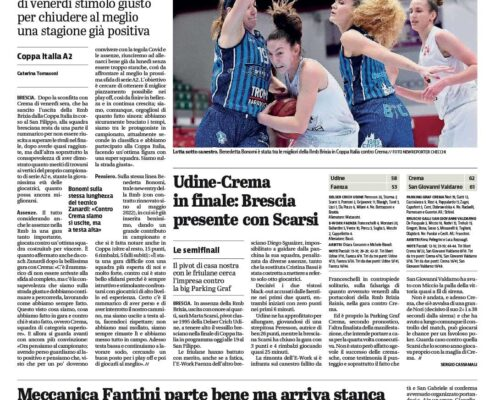 Giornale di Brescia del 14 Marzo 2021