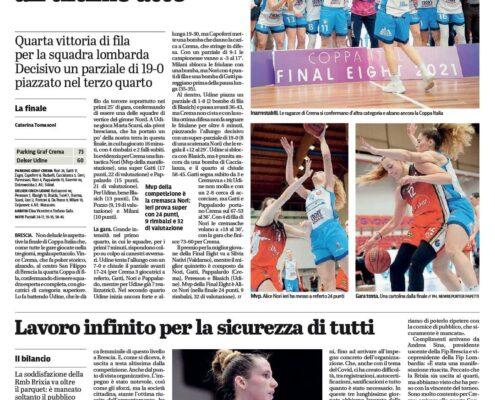 Giornale di Brescia del 15 Marzo 2021